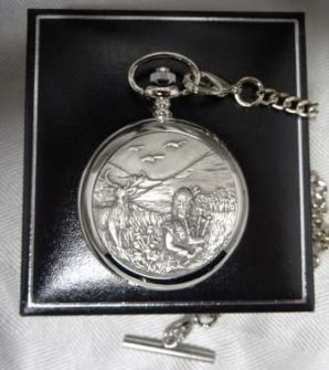 Stag and Piper Pewter Pocket Watch